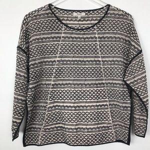 Madewell black & Cream textured sweater Small